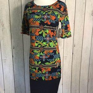 LuLaRoe Women's Size S Floral Julia Dress NWT